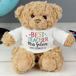 Personalised Best Teacher Teddy Bear