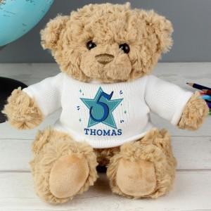 Personalised Blue Big Age Teddy Bear