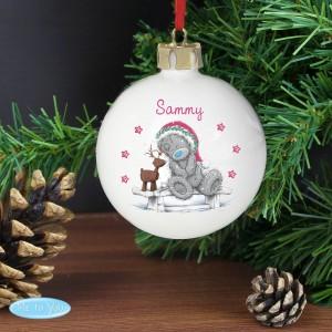 Personalised Me To You Reindeer Bauble