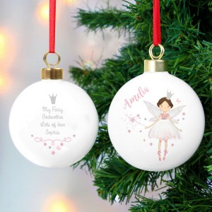 Exceptionnel Personalised Fairy Princess Bauble ...