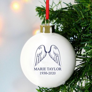 Personalised Angel Wings Bauble