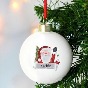 Personalised Santa Claus Bauble