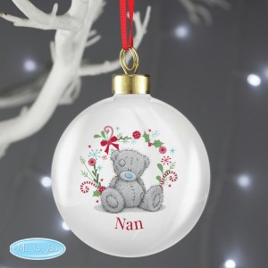"Personalised Me To You ""For Nan, Grandma, Mum"" Christmas Bauble"