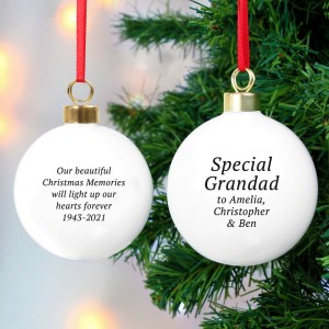 Personalised Free Text Christmas Bauble
