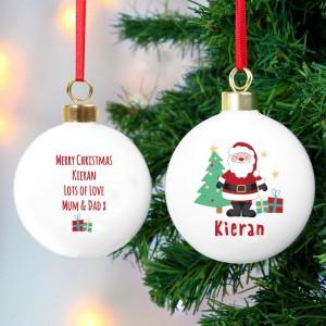 Personalised Santa Bauble
