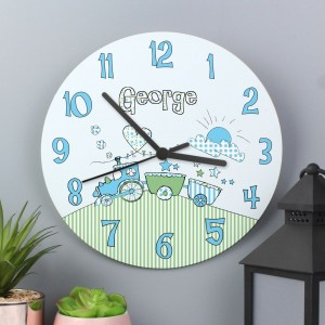 Personalised Whimsical Train Clock