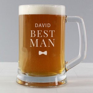 Personalised Best Man Pint Stern Tankard