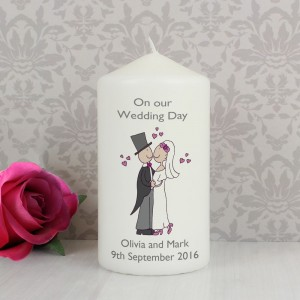 Personalised Cartoon Couple Candle