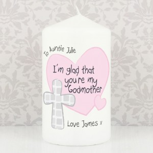 Personalised Godmother Candle