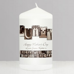 Personalised Affection Art Mummy Pillar Candle