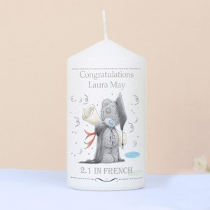 Personalised Me to You Graduation Pillar Candle