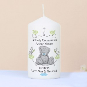Personalised Me To You Religious Cross Pillar Candle
