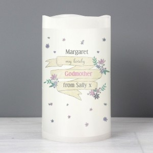 Personalised Garden Bloom LED Candle