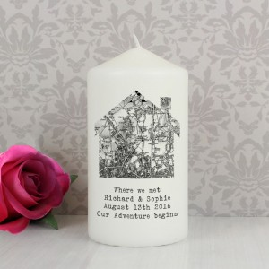 Personalised 1805 - 1874 Old Series Map Home Pillar Candle