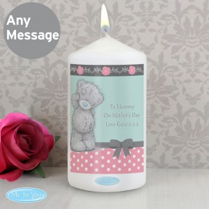 Personalised Me To You Pastel Polka Dot for Her Pillar Candle