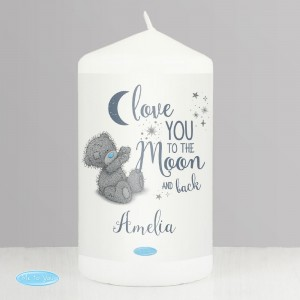 "Personalised Me to You ""Love You to the Moon and Back"" Pillar Candle"