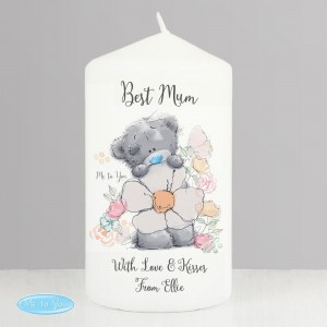 Personalised Me to You Floral Pillar Candle