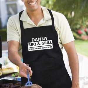 Personalised BBQ & Grill Black Apron