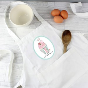 Personalised Vintage Pastel Cupcake Children's Apron