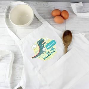 Personalised Dinosaur Children's Apron