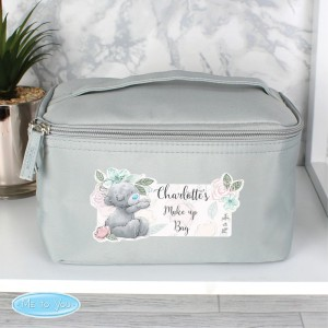 Personalised Me to You Floral Grey Vanity Bag