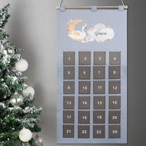 Personalised Swan Lake Advent Calendar In Silver Grey