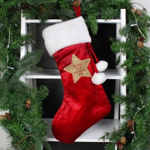 Personalised First Christmas Red Stocking