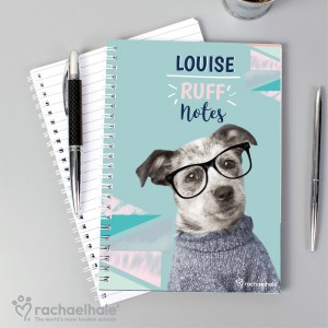 "Personalised Rachael Hale ""Ruff Notes"" Dog A5 Notebook"