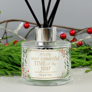 "Personalised ""Wonderful Time of The Year"" Christmas Reed Diffuser"