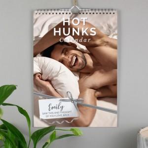 Personalised A4 Hot Hunks Calendar