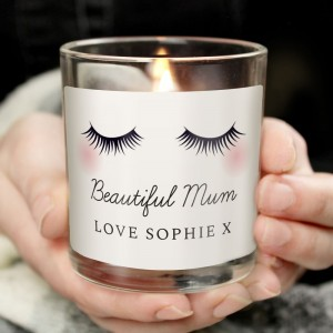 Personalised Eyelashes Scented Jar Candle