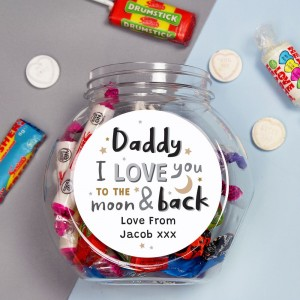 Personalised To the Moon and Back Sweet Jar