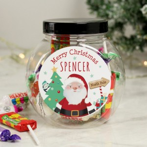 Personalised Santa Sweet Jar