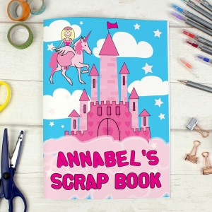 Personalised Princess & Unicorn - A4 Scrapbook