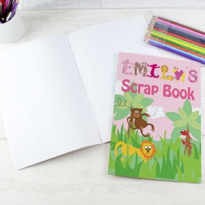Personalised Pink Animal Alphabet Scrap Book