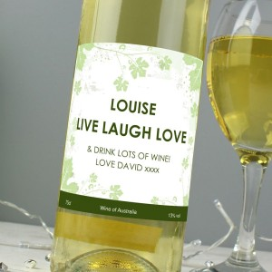 Personalised White Wine Ivy Label