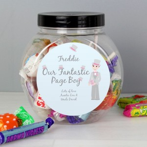Personalised Fabulous Pageboy Sweet Jar