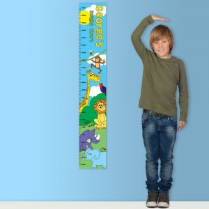 Personalised Zoo Height Chart