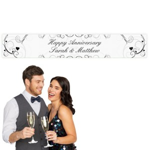 Personalised Ornate Swirl Banner