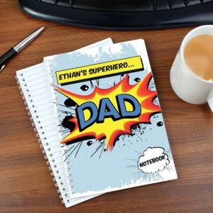 Personalised Super Hero Comic Book Themed A5 Notebook