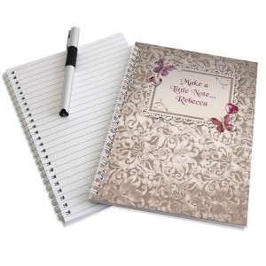 Personalised Butterfly Gem A5 Notebook