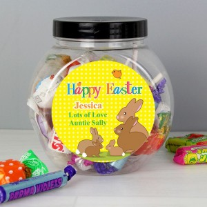 Personalised Easter Bunny Sweet Jar