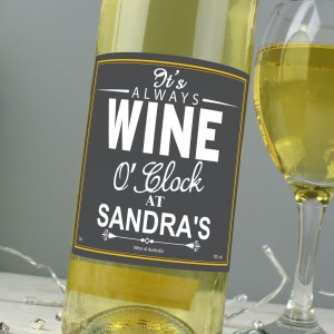 Personalised Wine O'Clock White Wine
