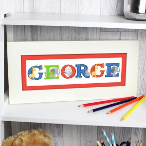 Personalised Animal Alphabet Name Frame