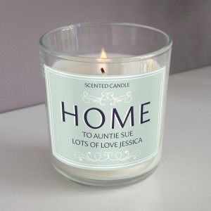 Personalised HOME Scented Jar Candle