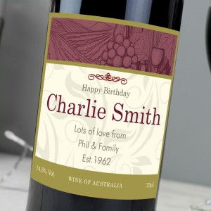 Personalised Traditional Red Wine