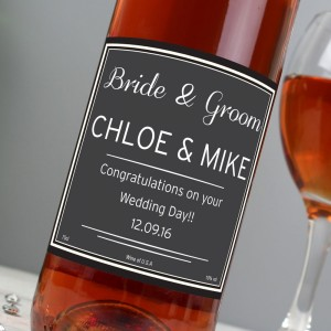 Personalised Classic Rose Wine
