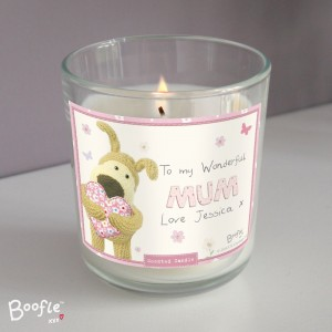 Personalised Boofle Flowers Scented Jar Candle