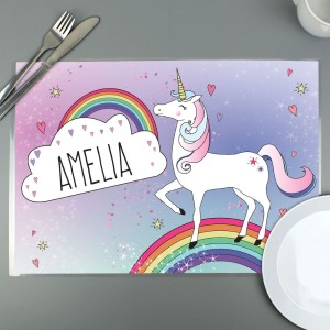 Personalised Unicorn Placemat