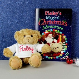 Personalised Magical Christmas Adventure Story Book and Personalised Teddy Bear